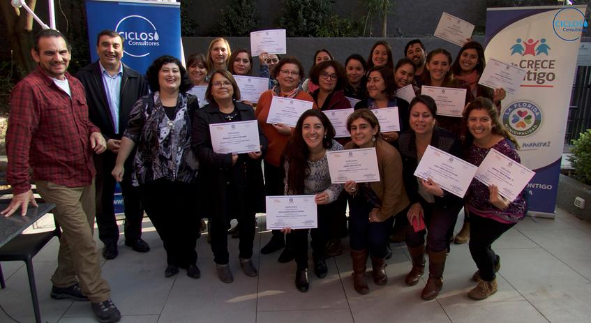 """CICLOS imparte curso """"Coaching en Adicciones y Familia"""" a profesionales de La Florida"""
