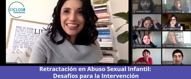 """CICLOS da inicio al Curso: """"Retractación en abuso sexual infantil"""""""