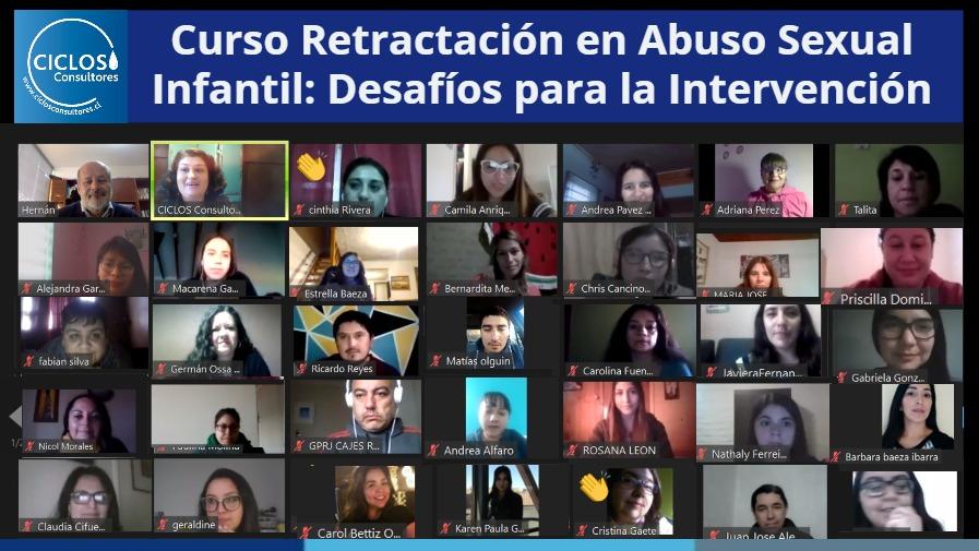 """CICLOS finaliza Curso """"Retractación en Abuso Sexual Infantil: Desafíos para la Intervención"""""""
