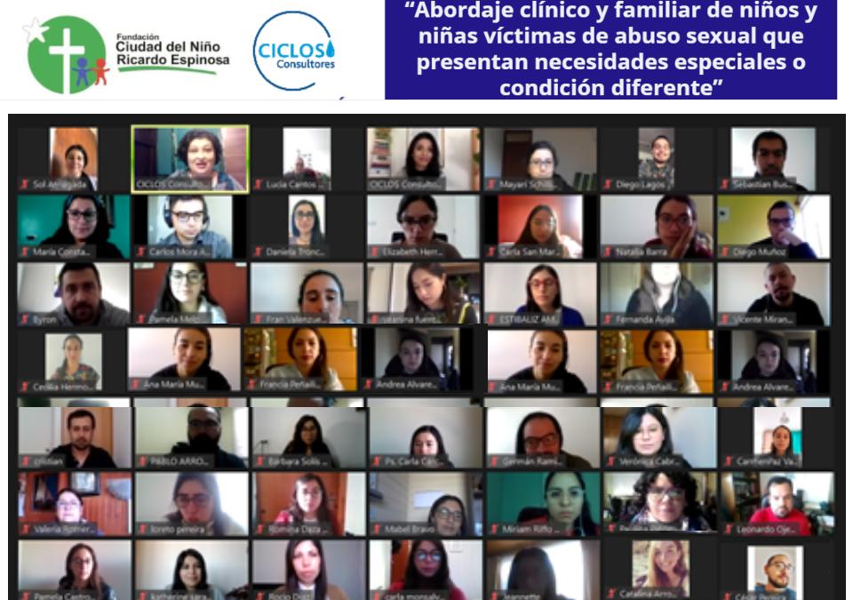 CICLOS imparte Curso Especializado en atención en necesidades especiales a Fundación Ricardo Espinosa